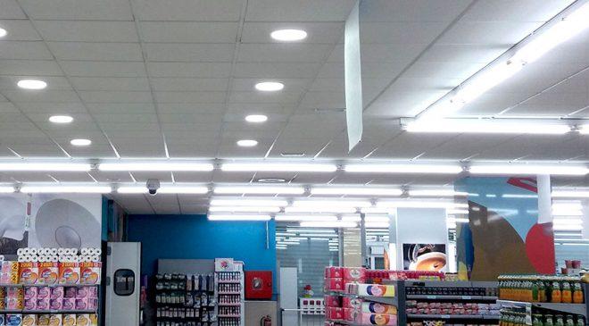 Iluminación LED en supermercados Superdumbo